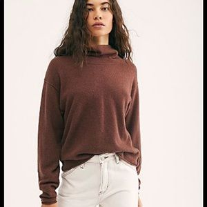 Free people XS cozy cashmere sweater